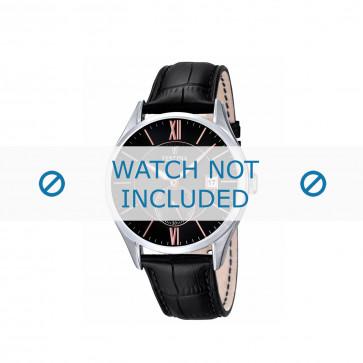 Festina horlogeband F16872.1 / F16872.4 Leder Zwart + zwart stiksel