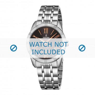 Festina horlogeband F16940-3 / F16940-1 / F16940-2 / F16940-4 / F16940-5 Staal Zilver 17mm