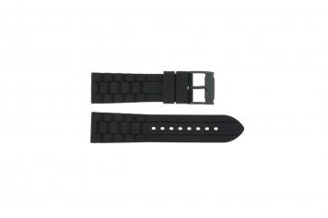 Pasek do zegarka Fossil FS4487 / FS4628 / FS4605 / JR1425 Krzem Czarny 24mm