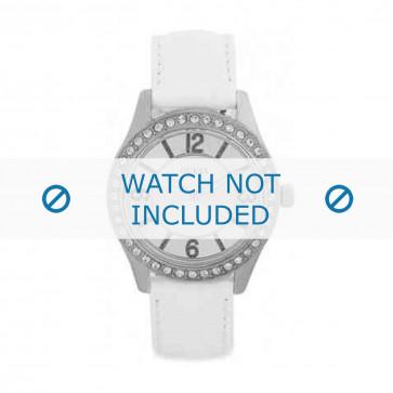 Pasek do zegarka Guess W0351L1 Skórzany Biały 18mm