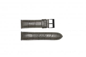 Pasek do zegarka Guess W12089G2 / W0079G1 Skórzany Szary 22mm