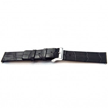 Pasek do zegarka Uniwersalny H810 Skórzany Szary 22mm