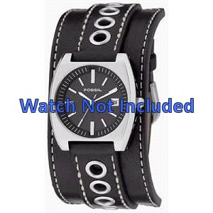Pasek do zegarka Fossil JR8205 Skórzany Czarny 16mm
