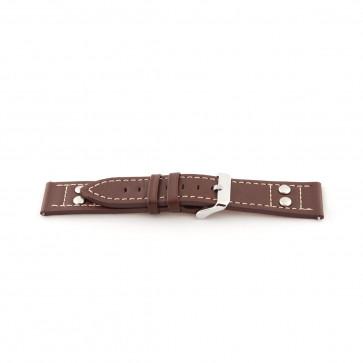Pasek do zegarka Uniwersalny H365 Skórzany Brązowy 22mm