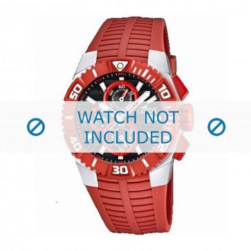 Pasek do zegarka Lotus 15778-2 Gumowy Czerwony 26mm