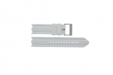Pasek do zegarka Nautica A14608G / A16603G Gumowy Biały 22mm