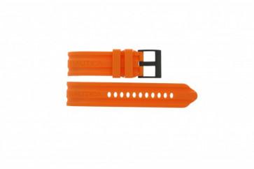 Pasek do zegarka Nautica A17586G Gumowy Pomarańczowy 24mm