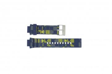 Adidas Pasek Do Zegarka Adh6106 Guma Niebieski 16mm