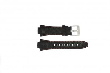 Pasek do zegarka Seiko 7L22-0AE0 / SNL017P1 / 4KG8JZ /SNL021P9 Skórzany Czarny 15mm