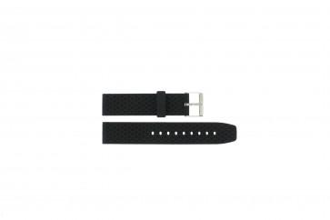Pasek do zegarka PU.102 Plastikowy Czarny 20mm