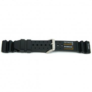 Pasek do zegarka Uniwersalny XF13 Gumowy Czarny 18mm