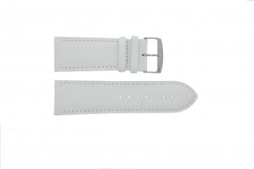 Prawdziwy Skóra Pasek Do Zegarka Biały 24mm