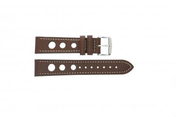 Pasek do zegarka Uniwersalny 682R.02 Skórzany Brązowy 20mm