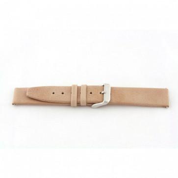 Pasek do zegarka Uniwersalny H850 Skórzany Beżowy 22mm