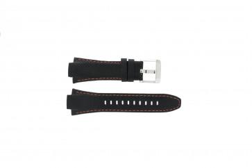Pasek do zegarka Seiko 7T62-0ED0 / H023 00C0 / SNJ007P Skórzany Czarny 15mm