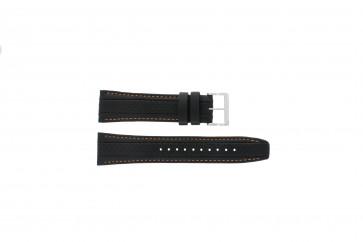 Pasek do zegarka Seiko 7T62-0HL0 / SNAB59P1 Skórzany Czarny 24mm