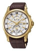 Pasek do zegarka Seiko 7T62-0JW0 / SNAF22P1 / 4A071KL Skórzany Brązowy 21mm
