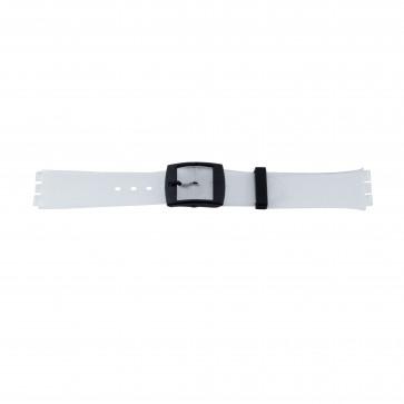 Pasek do zegarka Swatch 51.00 Gumowy Biały 17mm