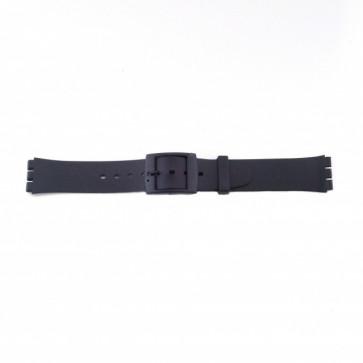 Pasek do zegarka Swatch P51 Gumowy Czarny 17mm