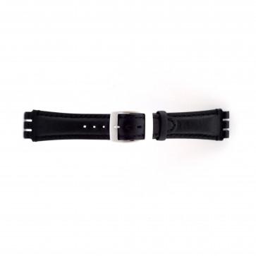 Pasek do zegarka Swatch SC14.01 Skórzany Czarny 19mm