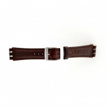 Strap Dla Swatch Brązowy 19mm Pvk-Sc14.02