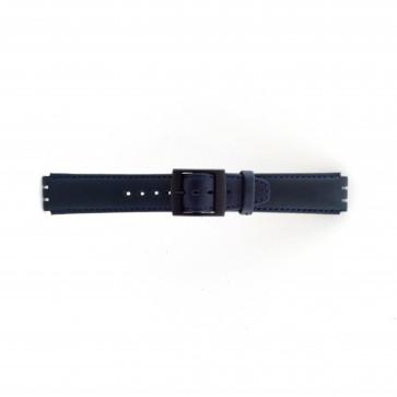 Pasek do zegarka Swatch SC11.05 Skórzany Niebieski 17mm