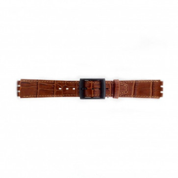 Pasek Do Zegarka Dla Swatch Krokodyla Brązowy 16mm Pvk-Sc16.03