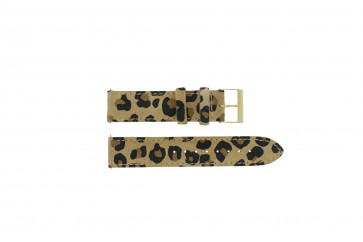 Guess Pasek Do Zegarka W16574L1 Leopard Drukuj Skóra