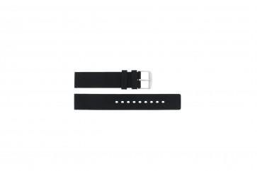 Pasek do zegarka Uniwersalny 6826.20 / 21901.10.20 Gumowy Czarny 20mm