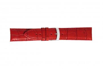 Morellato horlogeband Extra X3395656083CR26 / PMX083EXTRA26 Croco leder Rood 26mm + standaard stiksel