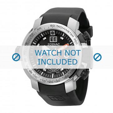 Pasek do zegarka Zodiac ZO8505 Gumowy Czarny 28mm
