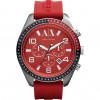 Pasek do zegarka Armani Exchange AX1252 Krzem Czerwony 22mm