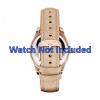 Pasek do zegarka Fossil ES3104 Skórzany Beżowy 18mm