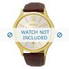 Pasek do zegarka Seiko 7N42-0GG0 / SGEH56P1 Croco skóra Brązowy 21mm