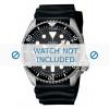 Pasek do zegarka Seiko 7S26-0020 / SKX007K1 / 4FY8JZ / 4D41JZ Gumowy Czarny 22mm