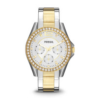 Fossil Riley ES3204 Analoog Quartz horloge Dameshorloge