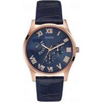Pasek do zegarka Guess W0608G2 Skórzany Niebieski 22mm
