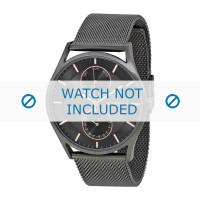 Pasek do zegarka Skagen SKW6180 Milanese Szary antracyt 22mm
