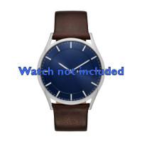 Pasek do zegarka Skagen SKW6237 Skórzany Brązowy 22mm