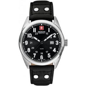 Pasek do zegarka Swiss Military Hanowa 06-4181.04.007 Skórzany Czarny 22mm