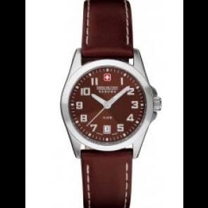 Pasek do zegarka Swiss Military Hanowa 06-6030.04.005.05 / 6-6030 Skórzany Brązowy 15mm
