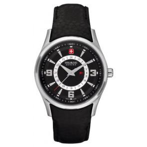 Pasek do zegarka Swiss Military Hanowa 06-6155.04.007 Skórzany Czarny