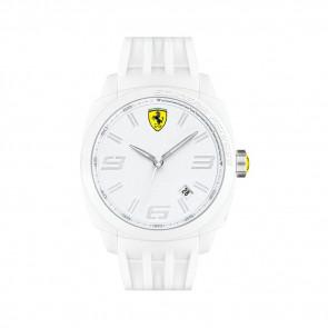 Ferrari horlogeband SF113.1 / 0830113 / SF689300066 / Scuderia Rubber Wit 24mm