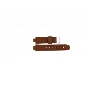 Jacques Lemans horlogeband 1-1696 / BK-2892 Silicoon Bruin 12mm