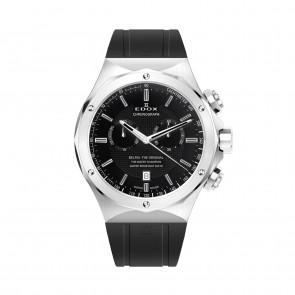 Edox horlogeband 10107-RUB Rubber Zwart
