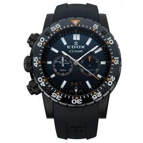 Pasek do zegarka Edox 10301 / Loc-22 Gumowy Czarny
