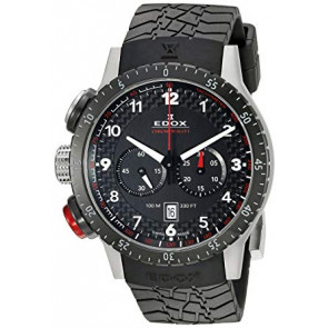 Pasek do zegarka Edox 10305 Gumowy Czarny 23mm