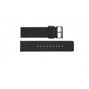 Pasek do zegarka Obaku 116-Z Skórzany Czarny 24mm