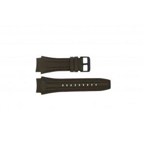 Police horlogeband 13891JSB-12 Leder Bruin 24mm + bruin stiksel