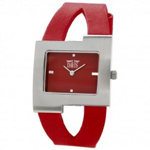 Pasek do zegarka Davis BB1404 Skórzany Czerwony 10mm